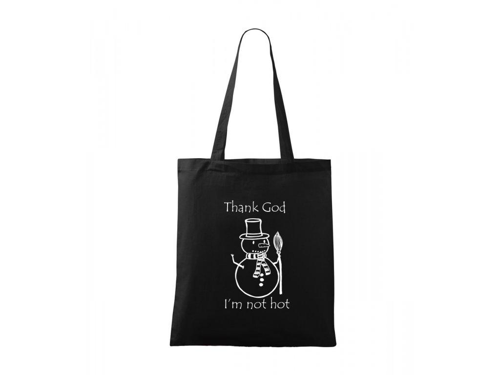 Hot plátěná taška černá