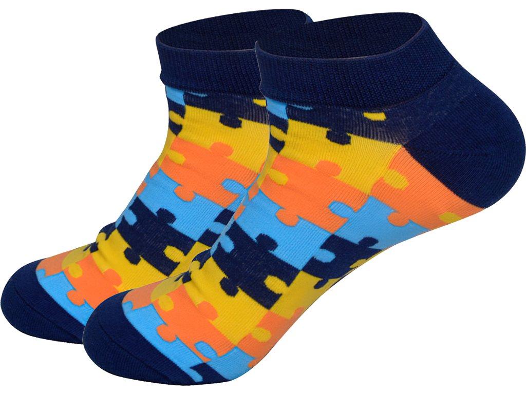 roni syvin ponozky kotnikove puzzle modre 1