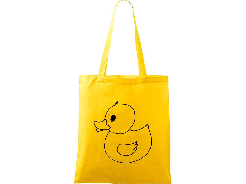 Plátěná taška Handy žlutá s černým motivem - Duck