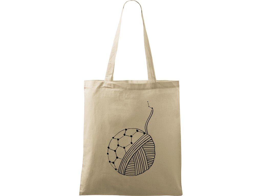 Plátěná taška Handy přírodní s černým motivem - Fulleren