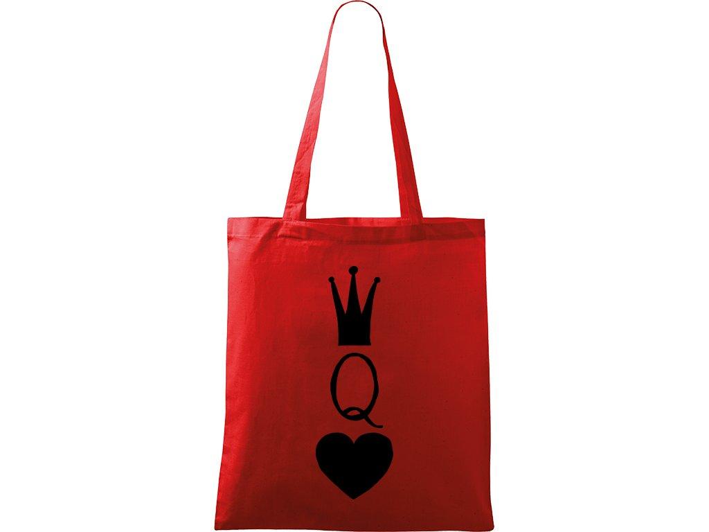 Plátěná taška Handy červená s černým motivem - Queen