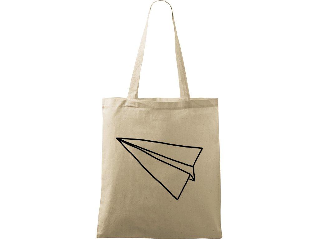 Plátěná taška Handy přírodní s černým motivem - Šipka samotná