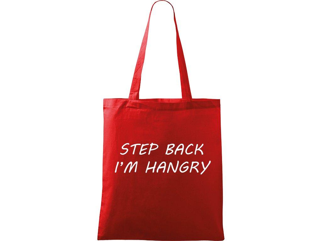 Plátěná taška Handy červená s bílým motivem - Hangry