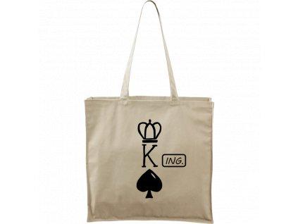 Plátěná taška Carry přírodní s černým motivem - (K) Ing.