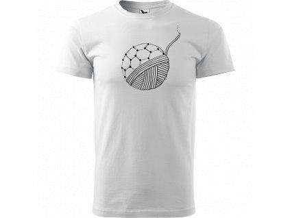 Ručně malované triko bílé s černým motivem - Fulleren