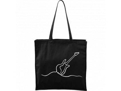 Plátěná taška Carry černá s bílým motivem - Jednotahové - Kytara elektrická