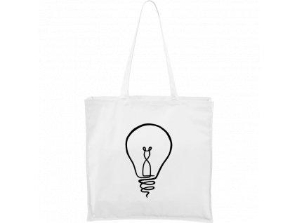 Plátěná taška Carry bílá s černým motivem - Jednotahové - Žárovka