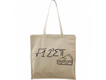 Plátěná taška Carry přírodní s černým motivem - I Ate Some Pie