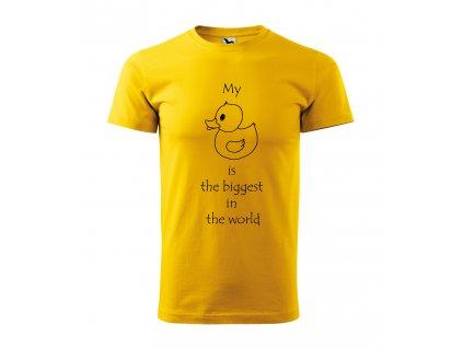 Roni Syvin žlutá duck pánské triko