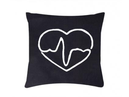 Roni Syvin polštář Doktorské srdce černá