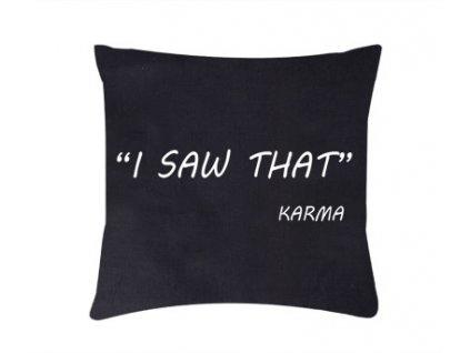 Roni Syvin polštář Karma černá