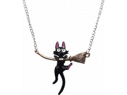 Přívěsek - Kočka na koštěti