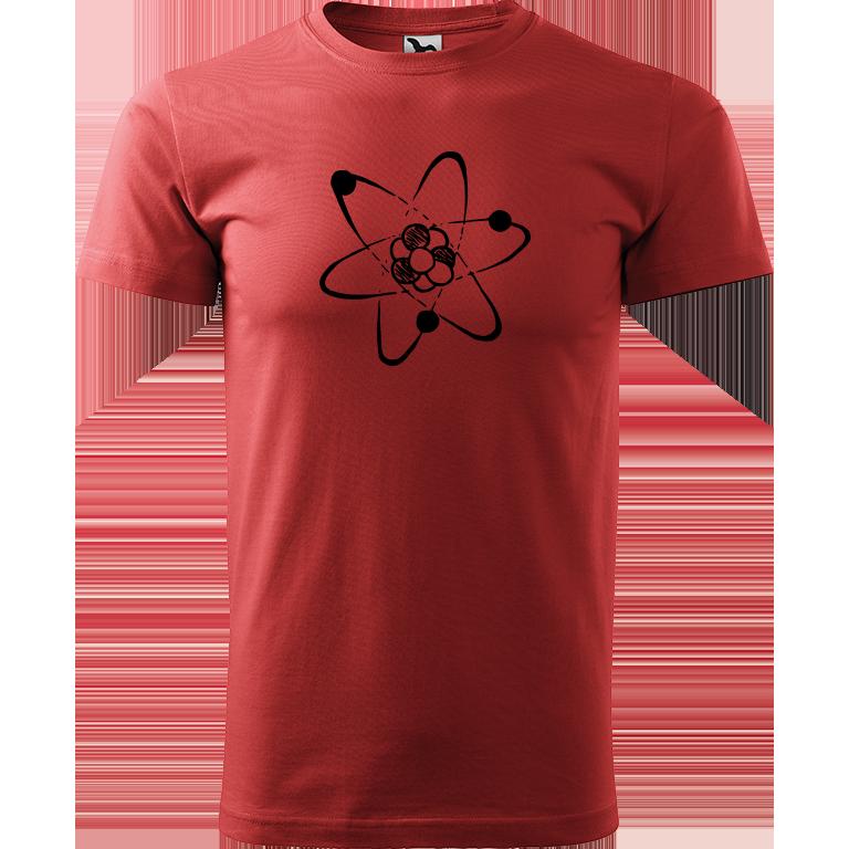 Adler/Malfini Pánské tričko Heavy New - Atom Barva motivu: ČERNÁ, Barva trička: BORDÓ, Velikost trička: XXL