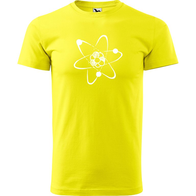 Adler/Malfini Pánské tričko Heavy New - Atom Barva motivu: BÍLÁ, Barva trička: CITRONOVÁ, Velikost trička: XXL