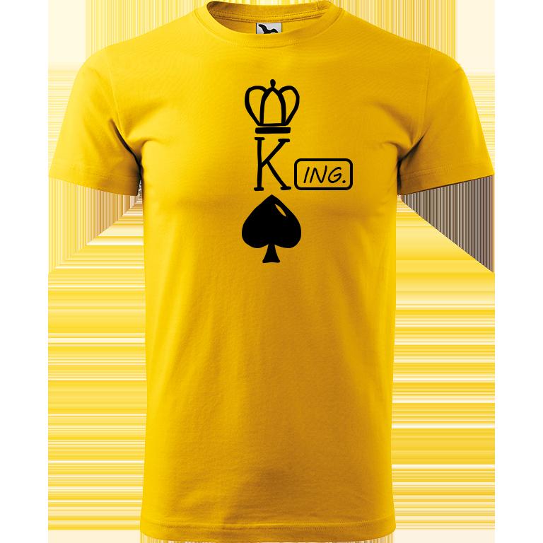 Adler/Malfini Pánské tričko Heavy New - (K)Ing. Barva motivu: ČERNÁ, Barva trička: ŽLUTÁ, Velikost trička: XS