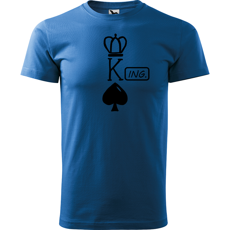 Adler/Malfini Pánské tričko Heavy New - (K)Ing. Barva motivu: ČERNÁ, Barva trička: AZUROVÁ, Velikost trička: XS