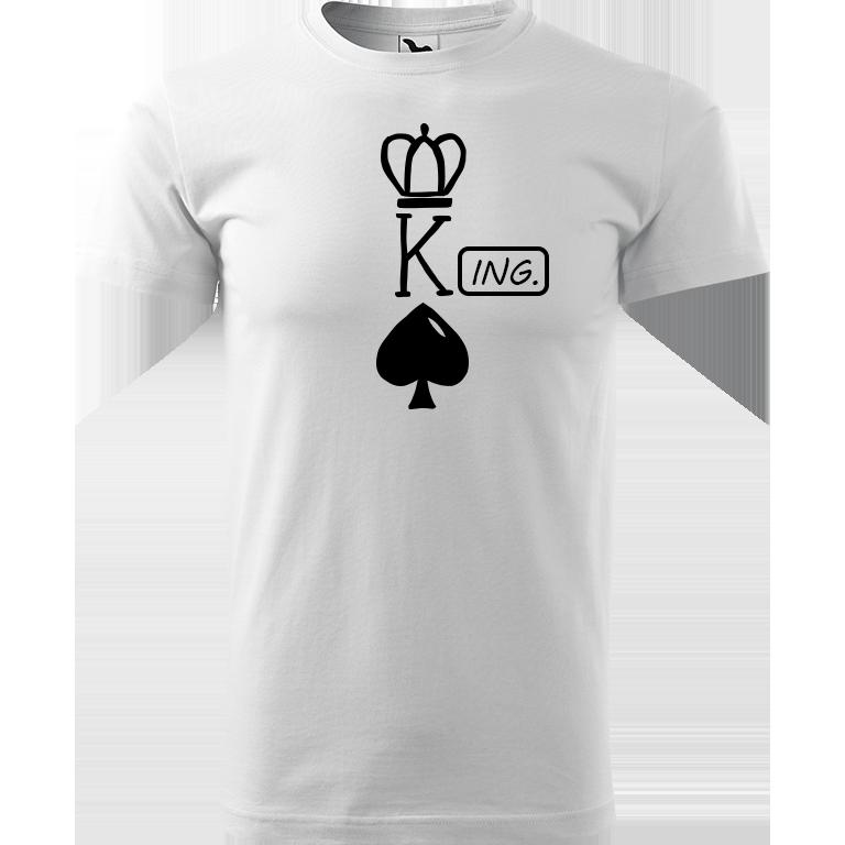 Adler/Malfini Pánské tričko Heavy New - (K)Ing. Barva motivu: ČERNÁ, Barva trička: BÍLÁ, Velikost trička: XS