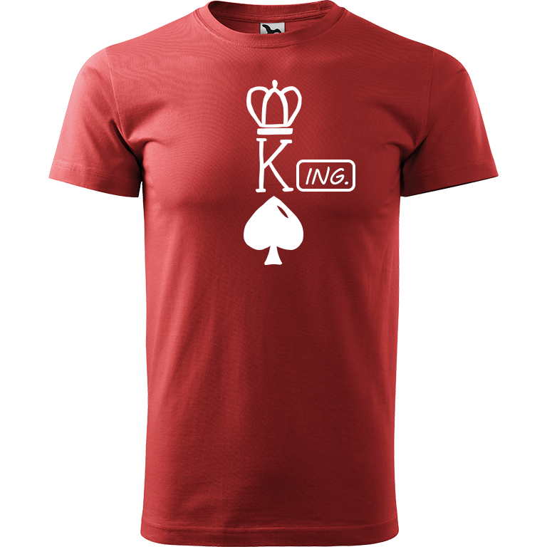 Adler/Malfini Pánské tričko Heavy New - (K)Ing. Barva motivu: BÍLÁ, Barva trička: BORDÓ, Velikost trička: XS