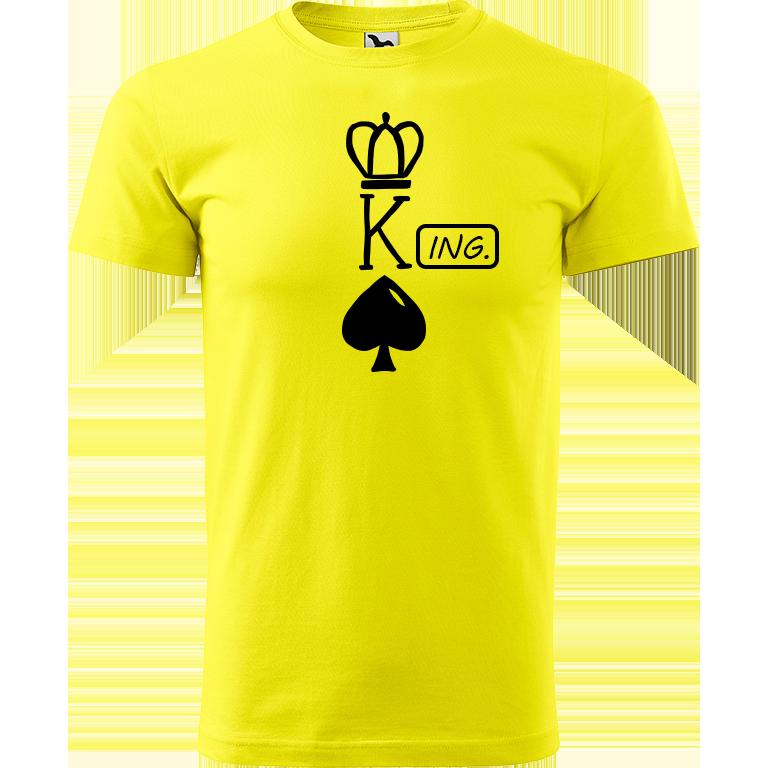 Adler/Malfini Pánské tričko Heavy New - (K)Ing. Barva motivu: ČERNÁ, Barva trička: CITRONOVÁ, Velikost trička: XS
