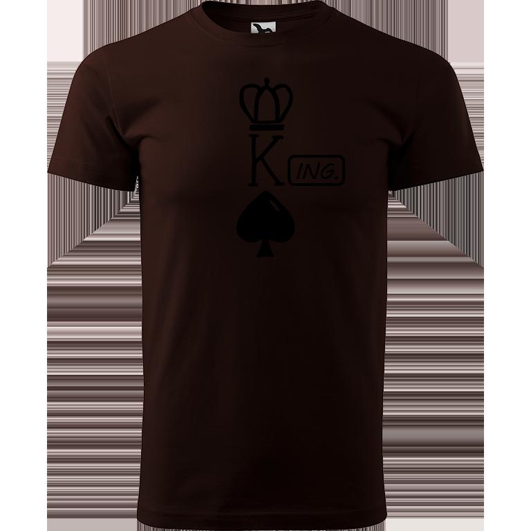 Adler/Malfini Pánské tričko Heavy New - (K)Ing. Barva motivu: ČERNÁ, Barva trička: KÁVOVÁ, Velikost trička: XS
