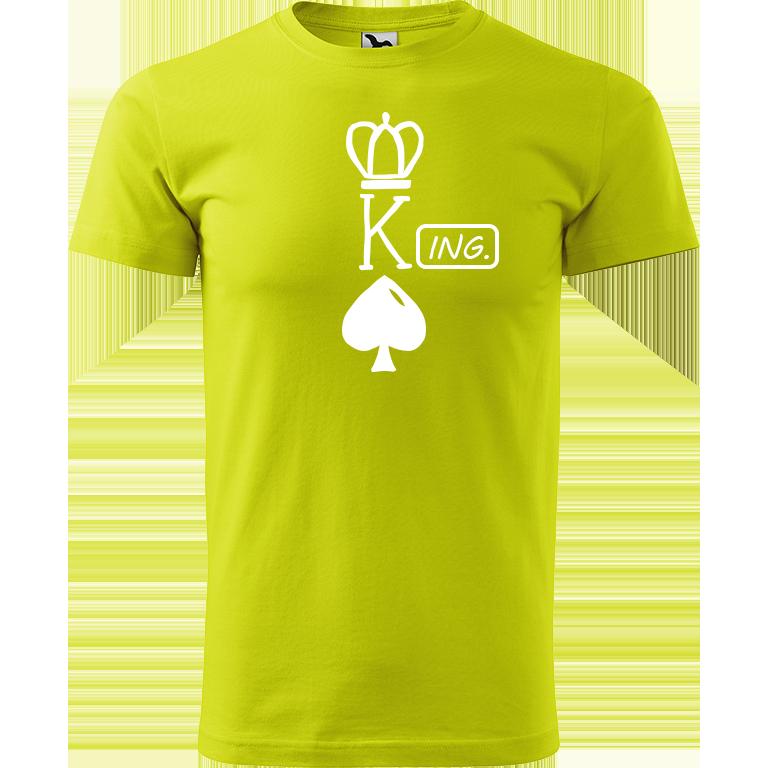 Adler/Malfini Pánské tričko Heavy New - (K)Ing. Barva motivu: BÍLÁ, Barva trička: LIMETKOVÁ, Velikost trička: XS