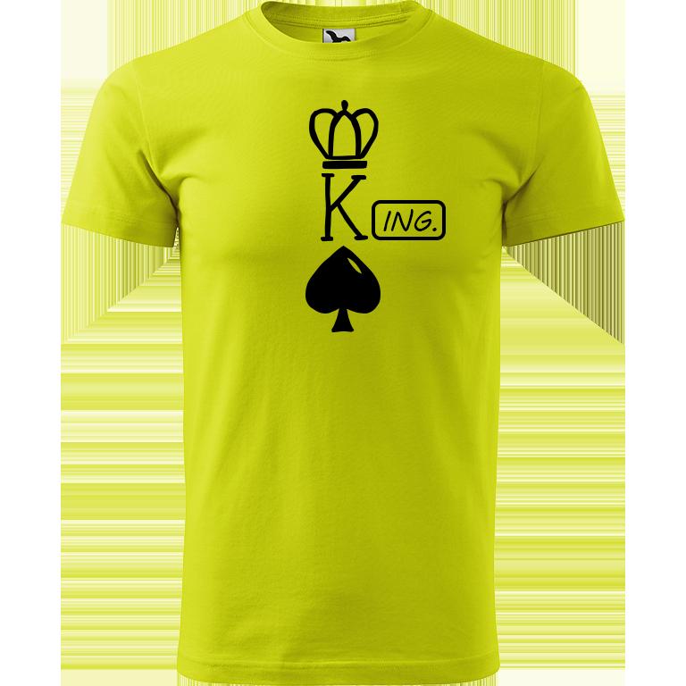 Adler/Malfini Pánské tričko Heavy New - (K)Ing. Barva motivu: ČERNÁ, Barva trička: LIMETKOVÁ, Velikost trička: XS