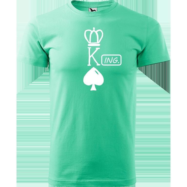 Adler/Malfini Pánské tričko Heavy New - (K)Ing. Barva motivu: BÍLÁ, Barva trička: MÁTOVÁ, Velikost trička: XS