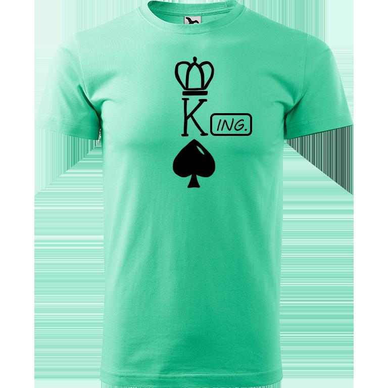 Adler/Malfini Pánské tričko Heavy New - (K)Ing. Barva motivu: ČERNÁ, Barva trička: MÁTOVÁ, Velikost trička: XS