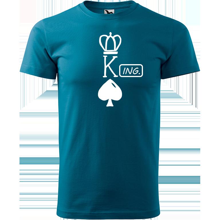 Adler/Malfini Pánské tričko Heavy New - (K)Ing. Barva motivu: BÍLÁ, Barva trička: PETROLEJOVÁ, Velikost trička: XS
