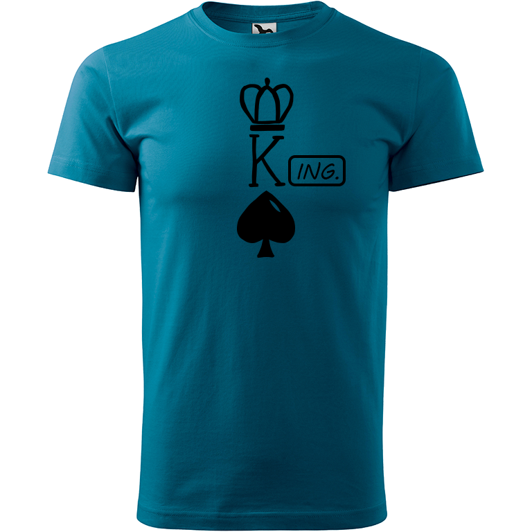 Adler/Malfini Pánské tričko Heavy New - (K)Ing. Barva motivu: ČERNÁ, Barva trička: PETROLEJOVÁ, Velikost trička: XS