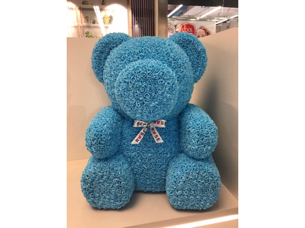 světle modrý medvídek