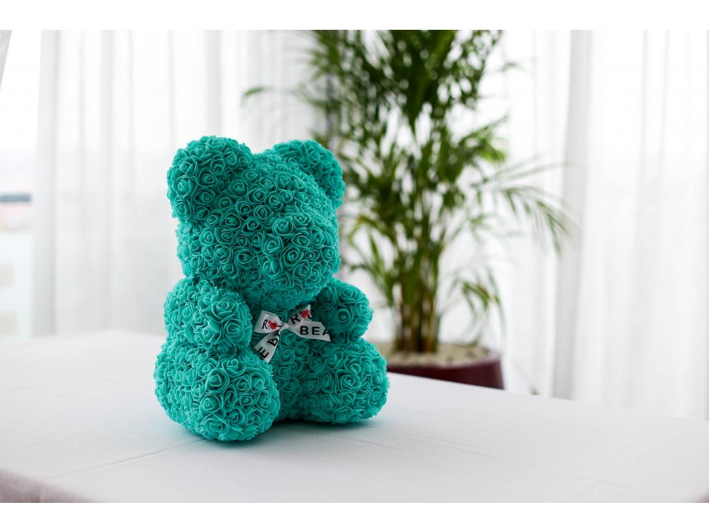 Tiffany medvídek z růží