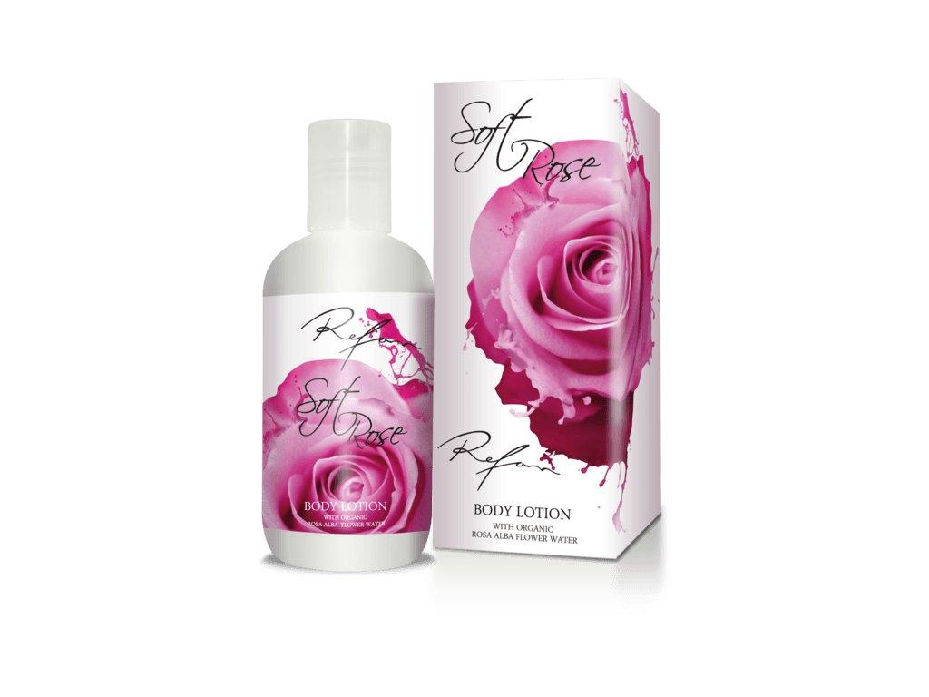 Tělové mléko Něžná růže