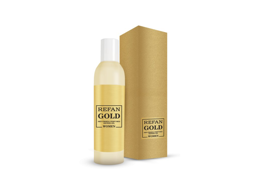Zpevňující parfémovaný sprchový gel pro ženy Refan gold 192