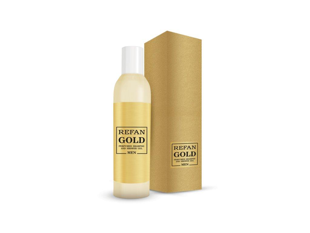 Parfémovaný šampon a sprchový gel pro muže Refan gold 407