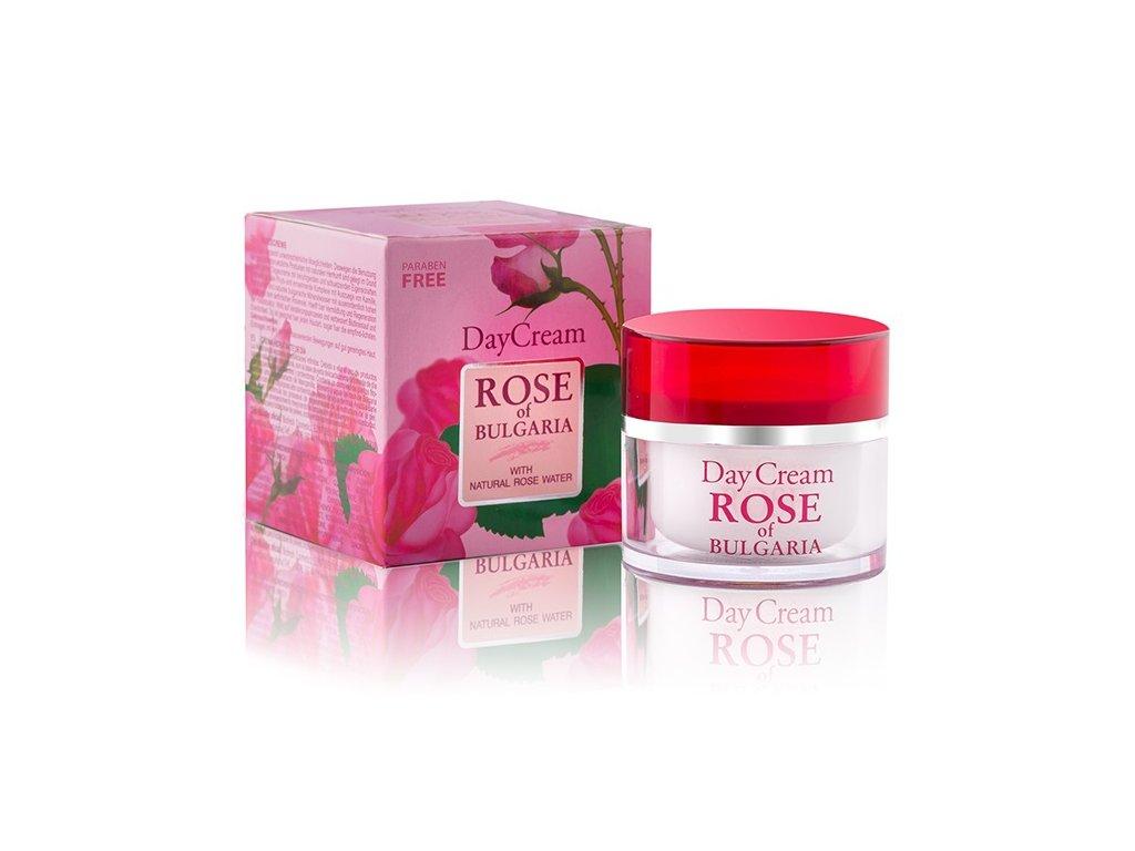 B01009 Denní pleťový krém s růžovou vodou, rozmarýnem a heřmánkem 50 ml