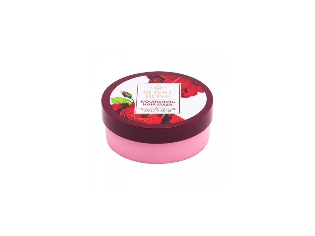 B05003 maska na vlasy s ruzovym olejem a arganovym olejem ruzova kosmetika biofresh bulharska nourishing hair mask royal rose