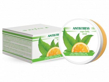 Tělový peeling s krystaly cukru Antistres Refan