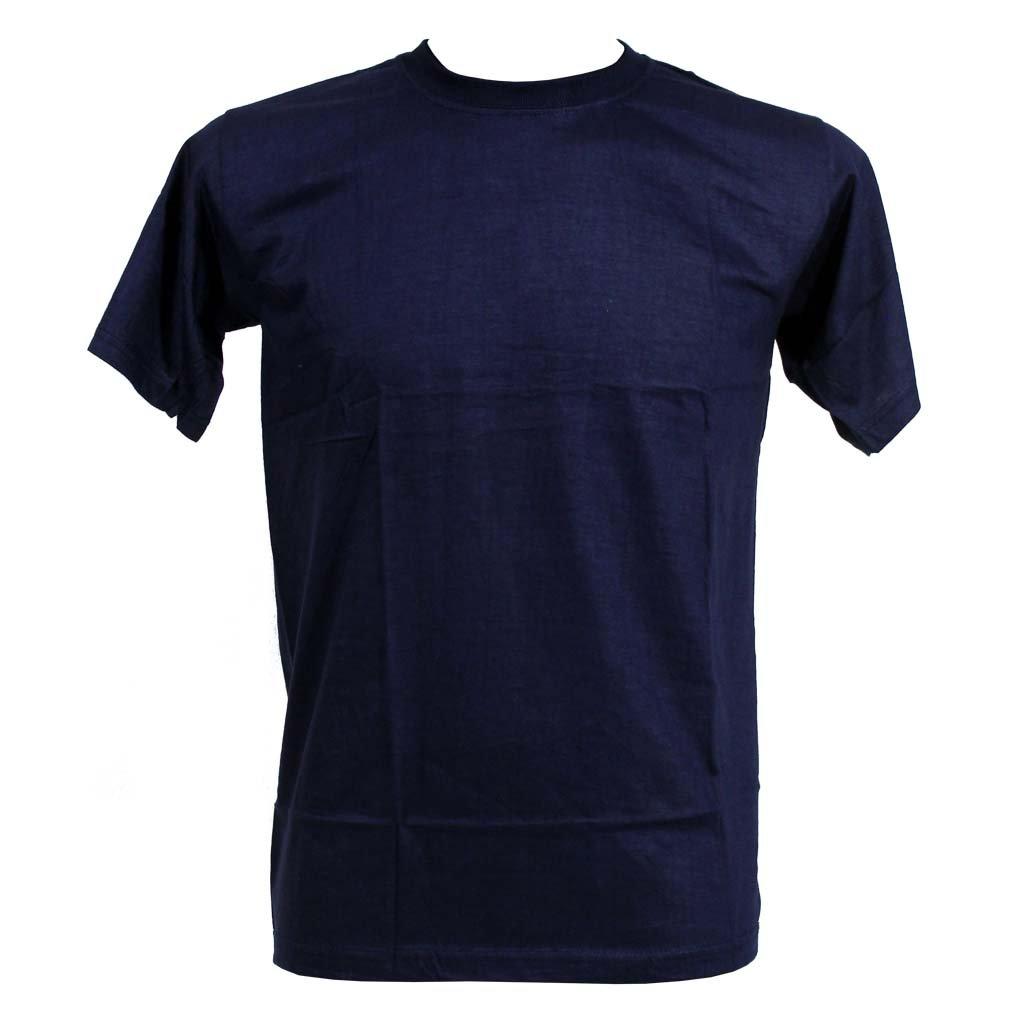 Levné tričko UNISEX nižší gramáž tmavě modrá barva