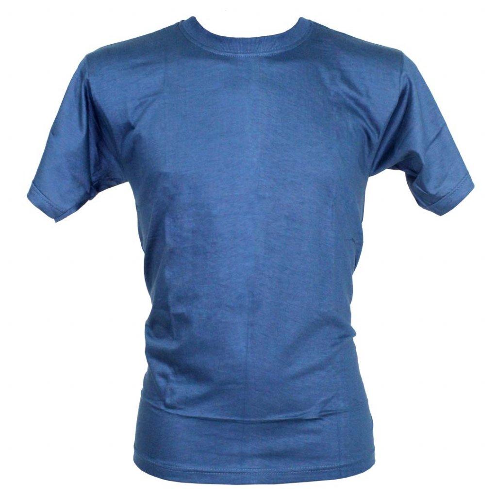 Levné tričko UNISEX nižší gramáž světle modrá barva