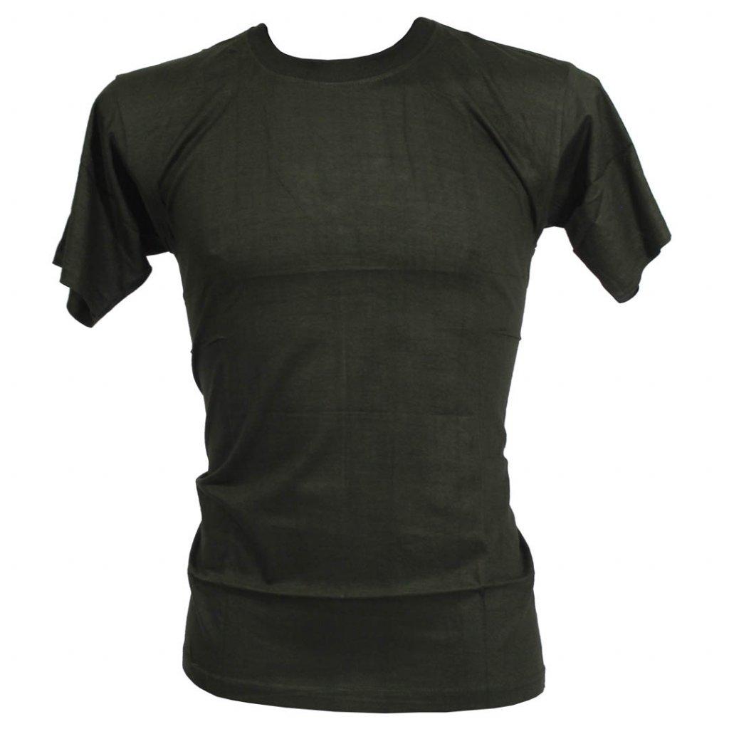 Levné tričko UNISEX nižší gramáž zelená barva