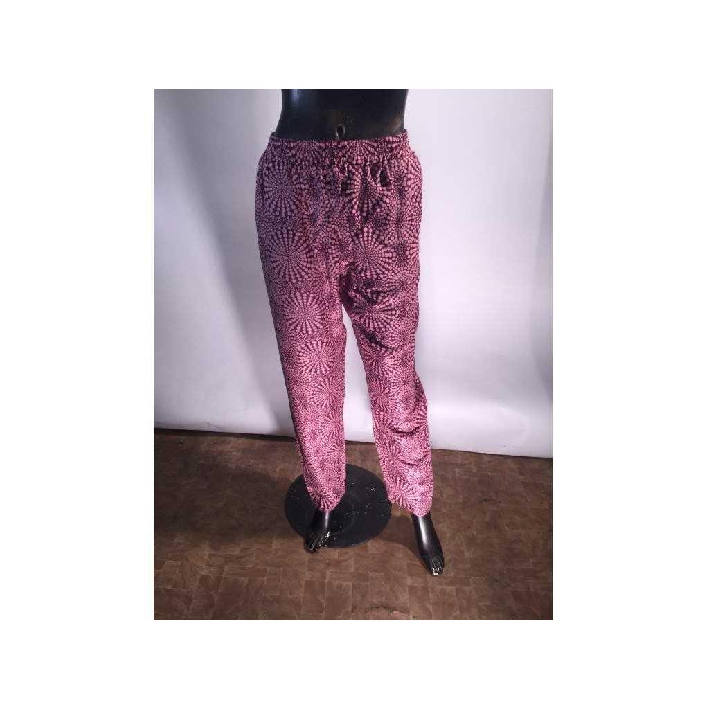 Dámské letní kalhoty fialové