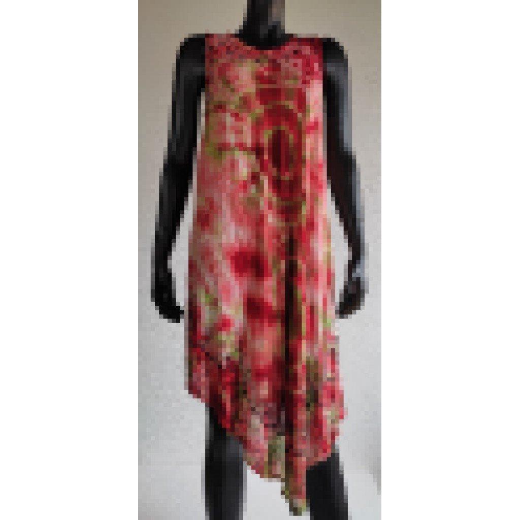 Batikované šaty s výšivkou
