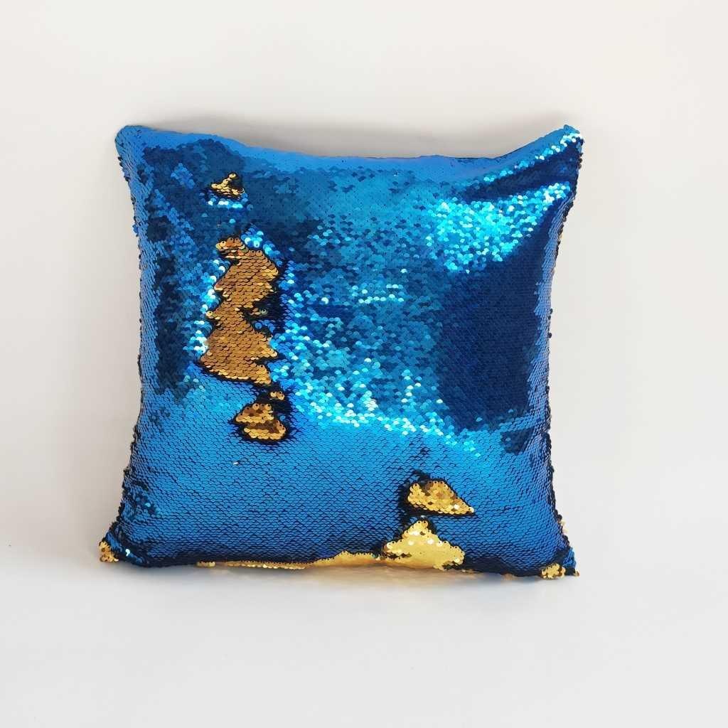 Polštářek MAGIK modro-zlatý