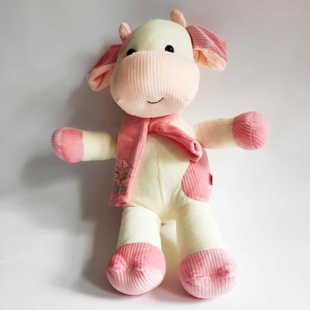 Dětský polštář 4D kravička růžový 47 cm