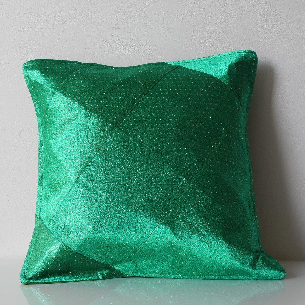 Povlak na polštářek zelenozlatý