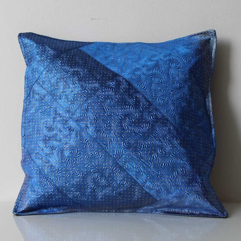 Povlak na polštářek modrozlatý