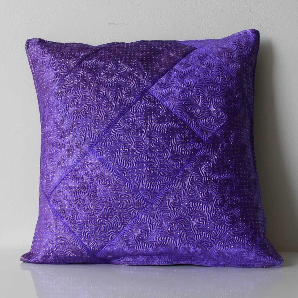 Povlak na polštářek fialovozlatý
