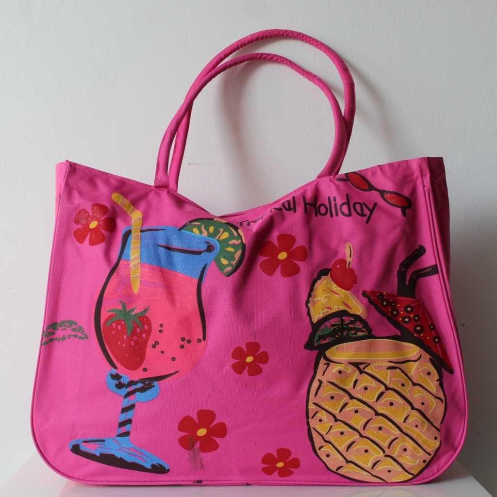 Plážová taška růžová
