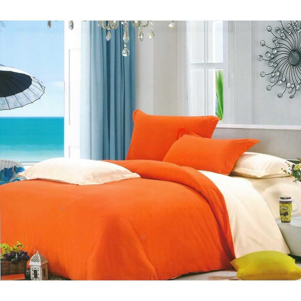 Oboustranné oranžovo smetanové